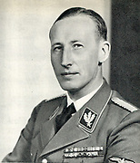 Reinhard Heydrich (1904-1942) SS-Obergruppenfuhrer, chief of the Reich Security Main Office (including the Gestapo, SD and Nazi police agencies) and Reichsprotektor (State Protector) of Bohemia and Moravia. Heydrich chaired the 1942 Wannsee conference whi