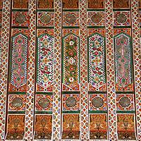 North Africa, Morocco, Marrakesh. Zellij detail work at El bahia Palace