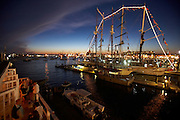 Newport, RI 2007 - View from the roof of the Landing Restaurant - Tallships from around the world congregate in Newport for the summer of 2007 Tallshiops festival.