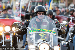 After the POW/MIA vigil in Meredith 's Hesky Park during Laconia Motorcycle Week. NH, USA. Thursday, June 14, 2018. Photography ©2018 Michael Lichter.