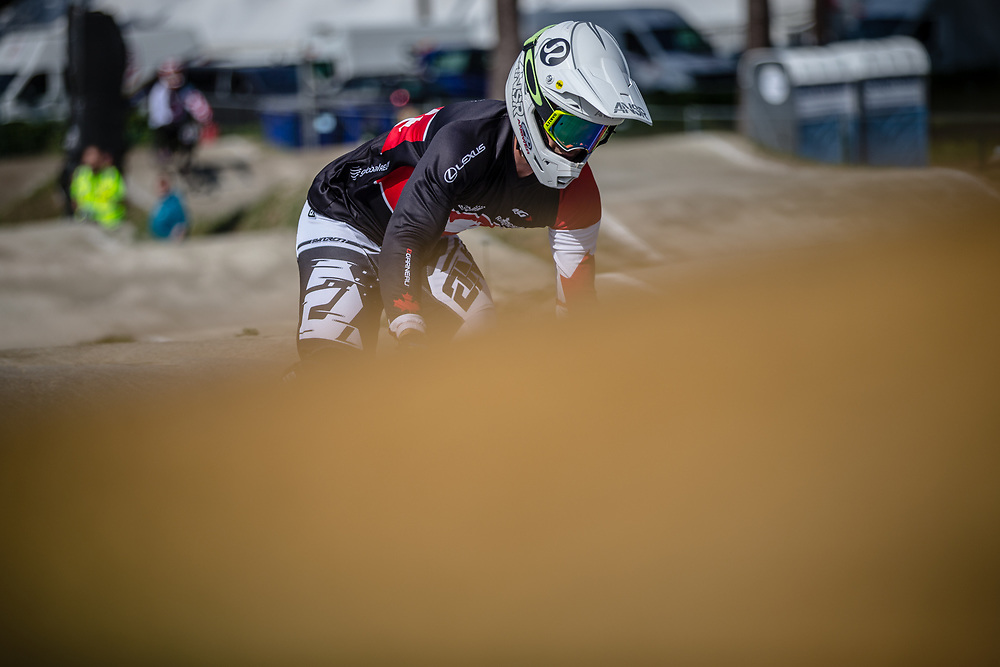 #49 (NYHAUG Tory) CAN during practice at Round 5 of the 2018 UCI BMX Superscross World Cup in Zolder, Belgium