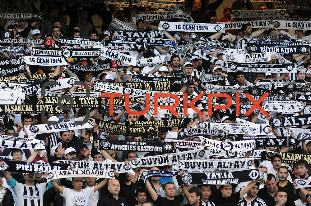 Altayspor's supporters during their Play Off First leg match at Ataturk olympic Stadium in Istanbul Turkey on Monday, 17 May 2010. Photo by TURKPIX