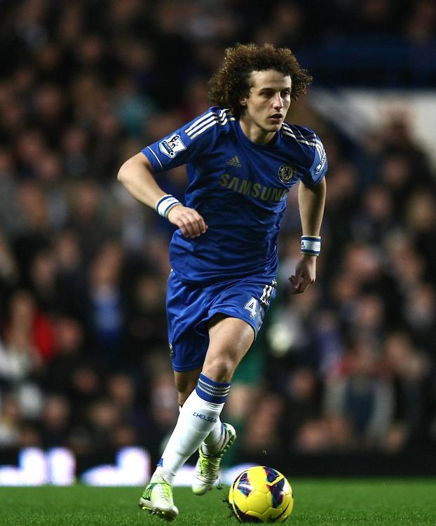 Chelsea's David Luiz in action during todays match  ..Football - Barclays Premiership - Chelsea v Aston Villa - Sunday 23rd December 2012 - Stamford Bridge - London..