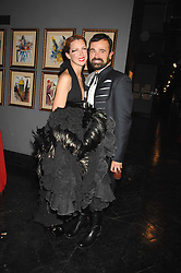 MARGO STILLEY and EVGENY LEBEDEV at Andy & Patti Wong's Chinese new Year party held at County Hall and Dali Universe, London on 26th January 2008.<br />