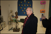 CLIVE BARKER at the Private view for A Strong Sweet Smell of Incense<br /> A Portrait of Robert Fraser, Curated by Brian Clarke. Pace Gallery. 6 Burlington Gardens. London. 5 February 2015.