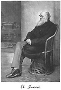 Charles Darwin (1809-1882) Darwin English naturalist. Evolution by Natural Selection. Engraving from 'The Century Magazine', New York, January 1883