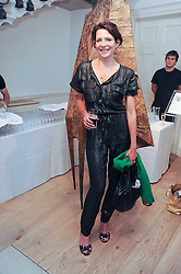 THOMASINA MIERS at a party to celebrate the launch of Page One an online guide to London's 100 most rewarding restaurants held at the Halcyon Gallery, Bruton Street, London on 7th July 2010.