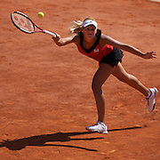 Aleksandra Wozniak, Canada during her loss to Serena Williams, USA,  at the French Open Tennis Tournament at Roland Garros, Paris, France on Monday, June 1, 2009. Photo Tim Clayton.
