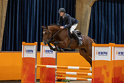 Van der Kampen Joop, NED, Menno H<br /> Fotodag KWPN Hengstenkeuring 2021<br /> © Hippo Foto - Dirk Caremans<br /> 21/12/2020
