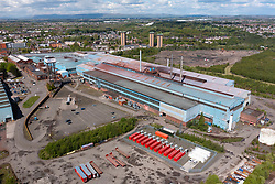 Motherwell, Scotland, UK. 19 May 2021. View of Liberty Steel Dalzell steelworks in Motherwell. The Scottish Government has confirmed it has not ruled out the possibility of taking the plant into public ownership. The steelworks is owned by GFG Alliance and Liberty Steel owner Sanjeev Gupta. GFG Alliance is suffering financial problems and is under investigation by the Serious Fraud Office. Iain Masterton/Alamy Live News