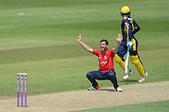 Essex all-rounder Ryan ten Doeschate appeals for the wicket of Hampshire all-rounder Liam Dawson during the Royal London One Day Cup match between Hampshire County Cricket Club and Essex County Cricket Club at the Ageas Bowl, Southampton, United Kingdom on 5 June 2016. Photo by David Vokes.