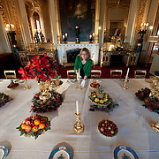WINDSOR December 4  Photo call for Christmas at Windsor Castle. For the first time visitors will be able to view the table in the State Dining Room set for a festive Victorian dessert course and dressed with dazzling silver-gilt pieces from the Grand Service...***Agreed Fee's Apply To All Image Use***.Marco Secchi /Xianpix. tel +44 (0) 771 7298571. e-mail ms@msecchi.com .www.marcosecchi.com