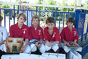 LOS MONOS ~JUNIOR POLO TEAM: OSCAR LUARD; PATRICK DE BARROS; PATRICK LODGE; JACK SEVERN. ( NOT LEFT TO RIGHT) The Dalwhinnie Crook  charity Polo match  at Longdole  Polo Club, Birdlip  hosted by the Halcyon Gallery. . 12 June 2010. -DO NOT ARCHIVE-© Copyright Photograph by Dafydd Jones. 248 Clapham Rd. London SW9 0PZ. Tel 0207 820 0771. www.dafjones.com.