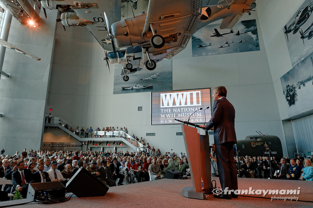 The 70th Anniversary of D-Day ceremony at the National World War II Museum in New Orleans, LA.