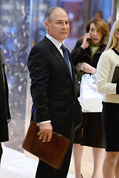 Scott Pruitt, Attorney General of Oklahoma, is seen in the lobby of the Trump Tower in New York, NY, on November 28, 2016. (Anthony Behar / Pool)