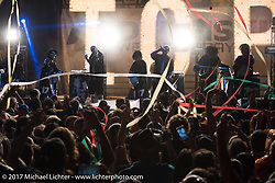 The Insane Clown Posse plays a wild concert at the Iron Horse Saloon on the last day of the annual Sturgis Black Hills Motorcycle Rally. Sturgis, SD. USA. Saturday August 12, 2017.  Photography ©2017 Michael Lichter.