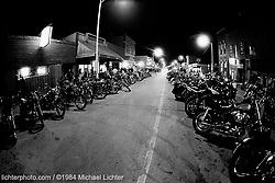Nighttime at the Night Owl, Sturgis, South Dakota, 1984<br /> <br /> Limited Edition Print from an edition of 15. Photo ©1984 Michael Lichter.