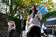Photos of the British band Deluka performing at Crest Fest in Brooklyn, New York on June 19, 2010.
