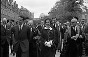 Belgian Royals King Baudouin and Queen Fabiola at Trinity College Dublin..15.05.1968