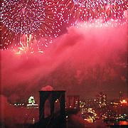 Brooklyn Bridge Bicentennial Celebration with Fireworks.