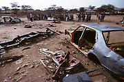 Children play in a rubble-strewn playground at the looted Sheikh Madar Elementary School in Hargeisa, Somaliland. The teachers of the school work without pay. Somaliland is the breakaway republic in northern Somalia that declared independence in 1991 after 50,000 died in civil war. March 1992.