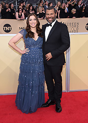 24th Annual Screen Actors Guild Awards held at the Shrine Exposition Center. 21 Jan 2018 Pictured: Jordan Peele and Chelsea Peretti. Photo credit: OConnor-Arroyo / AFF-USA.com / MEGA TheMegaAgency.com +1 888 505 6342