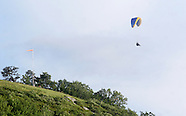 Hang gliders above Ellenville