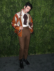 Ezra Miller at the CFDA/Vogue Fashion Fund 15th Anniversary Event in Brooklyn, New York.