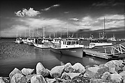 Fishing boats in Miscou Harbour<br />Petit Shippagan on Lameque Island<br />New Brunswick<br />Canada