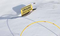ZANDVOORT - Winter 2021. De Kennemer G&CC in de sneeuw. Ground Under Repair.  COPYRIGHT  KOEN SUYK