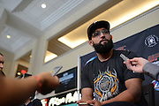 Johny Hendricks attends media day and makes final weight cuts prior to UFC 171 in Dallas, Texas on March 13, 2014. (Cooper Neill)