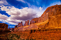 Park Avenue, Arches National Park, near Moab, Utah USA