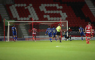 GOAL 1-1 Doncaster Rovers defender Cameron John (21) scores during the EFL Sky Bet League 1 match between Doncaster Rovers and Ipswich Town at the Keepmoat Stadium, Doncaster, England on 20 October 2020.