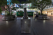 An almost empty Hachiko Square in Shibuya, Tokyo, Japan. Thursday May 7th 2020. The month-long state of emergency declared by the Japanese government in response to the COVID-19 pandemic was due to end on May 7th but was extended to May 31st despite Japan appearing to have avoided the high infection and mortality rates of some countries. Areas like Shibuya have many businesses shuttered and closed and the streets are a lot quieter than usual.