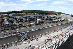 July 21, 2018 - Loudon, NH, U.S. - LOUDON, NH - JULY 21: Cars line up on pit road  during practice for the Monster Energy Cup Series Foxwoods Resort Casino 301 race on July, 21, 2018, at New Hampshire Motor Speedway in Loudon, NH. (Photo by Malcolm Hope/Icon Sportswire) (Credit Image: © Malcolm Hope/Icon SMI via ZUMA Press)