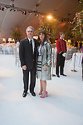 FARES FARES; TANIA FARES, CARTIER CHELSEA FLOWER SHOW DINNER Dinner hosted by Cartier in celebration of the Chelsea Flower Show was held at Battersea Power Station. 22 May 2012