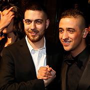 NLD/Amsterdam/20100215 - Premiere film Gangsterboys, önder Dogan en Yes-R