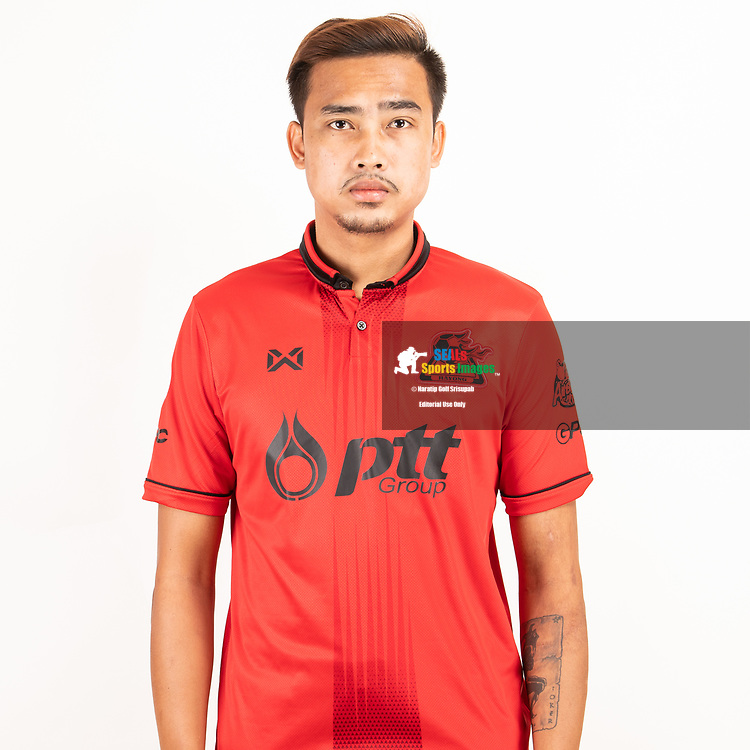 THAILAND - JUNE 09: Thanakorn Niyomwan #14 of PTT Rayong FC on June 09, 2019.<br /> .<br /> .<br /> .<br /> (Photo by: Naratip Golf Srisupab/SEALs Sports Images/MB Media Solutions)