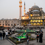 Situated in the busy Eminonu quarter of Istanbul, at the southern end of the Galata Bridge, the New Mosque (or Yeni Cami) dates to around 1665. It's large prayer hall is decorated in the distinctive Ottoman imperial style.