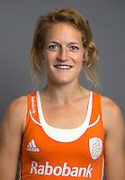 ARNHEM -Carlien Dirkse van den Heuvel.  Nederlands Hockeyteam dames voor Wereldkamioenschappen hockey 2014. FOTO KOEN SUYK