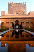 SPAIN, ANDALUSIA, GRANADA ALHAMBRA; Court of Myrtles 14thc.