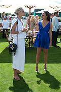 KALITA AL SWAIDI; RACHEL BARRETT, Cartier International Polo. Smiths Lawn. Windsor. 24 July 2011. <br /> <br />  , -DO NOT ARCHIVE-© Copyright Photograph by Dafydd Jones. 248 Clapham Rd. London SW9 0PZ. Tel 0207 820 0771. www.dafjones.com.