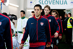 Clint Dempsey of USA before friendly football match between National teams of USA and Slovenia, on November 15, 2011 in SRC Stozice, Ljubljana, Slovenia.  USA won 3:2. (Photo By Matic Klansek Velej / Sportida.com)