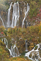 Plitvicka Slap and Sastavci waterfalls Plitvice National Park, Croatia