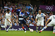 London 2012 Olympic games, mens Olympic football, 1st round, group A match, Great Britain v Uruguay at the Millennium Stadium in Cardiff on Wed 1st August 2012. pic by Andrew Orchard, Andrew Orchard sports photography,