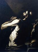 St Jerome'. Oil on canvas.  Louis (Alois) Finson (c1580-1617) Flemish painter.