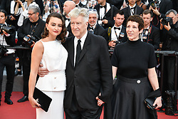 Emily Stofle, David Lynch, Sabrina S. Sutherland arriving for the 70th Cannes Film Festival closing ceremony on May 28, 2017 in Cannes, France. Photo by Julien Zannoni/APS-Medias/ABACAPRESS.COM
