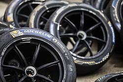 October 19, 2018 - Valencia, Spain - Michelin tyres  during the Formula E official pre-season test at Circuit Ricardo Tormo in Valencia on October 16, 17, 18 and 19, 2018. (Credit Image: © Xavier Bonilla/NurPhoto via ZUMA Press)