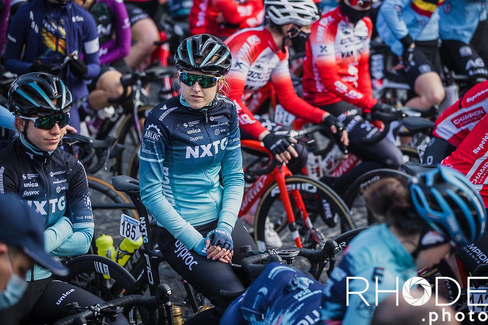 Amelia Sharpe(GBR/NXTG Racing) pre race<br /> <br /> Women's Elite Brabantse Pijl 2021 <br /> 1 Day Race: Lennik - Overijse 127km<br /> <br /> ©Rhode.Photo