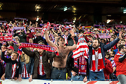 13.04.2016, Estadio Vicente Calderon, Madrid, ESP, UEFA CL, Atletico Madrid vs FC Barcelona, Viertelfinale, Rueckspiel, im Bild Atletico de Madrid's supporters celebrating the victory // during the UEFA Champions League Quaterfinal, 2nd Leg match between Atletico Madrid and FC Barcelona at the Estadio Vicente Calderon in Madrid, Spain on 2016/04/13. EXPA Pictures © 2016, PhotoCredit: EXPA/ Alterphotos/ BorjaB.Hojas<br /> <br /> *****ATTENTION - OUT of ESP, SUI*****
